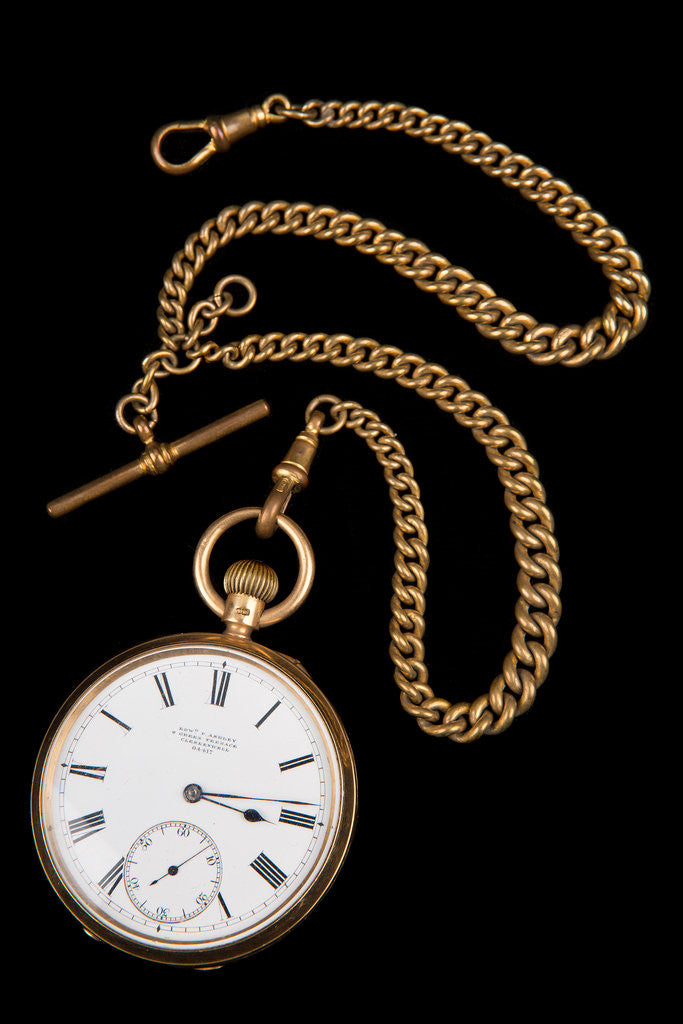 Detail of Gold lever watch, 1892 by Edward Ashley
