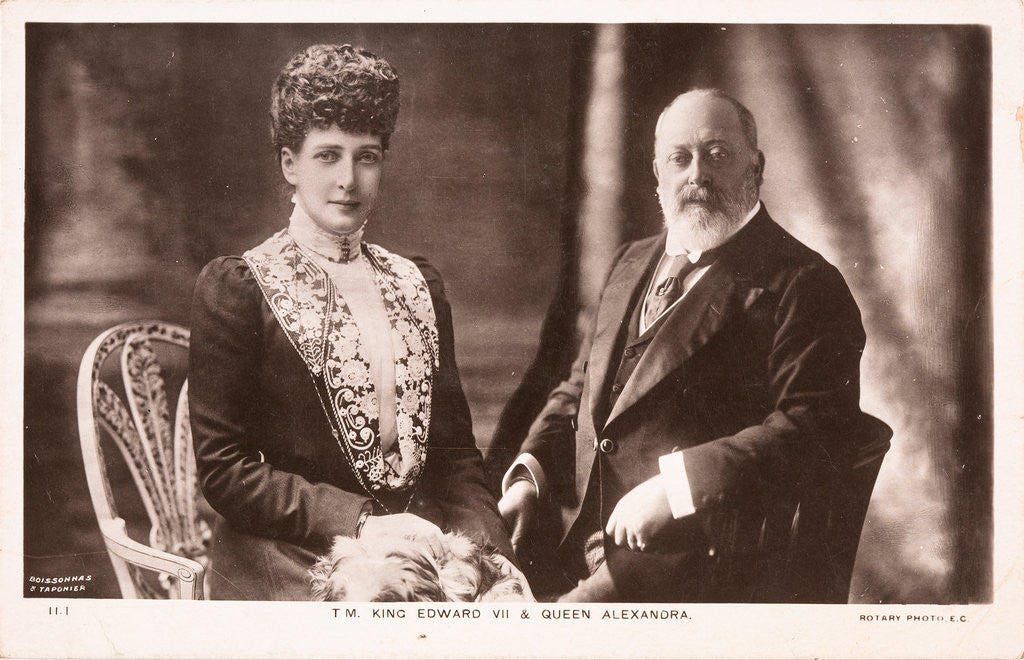 Detail of King Edward VII and Queen Alexandra, c1902 by Unknown