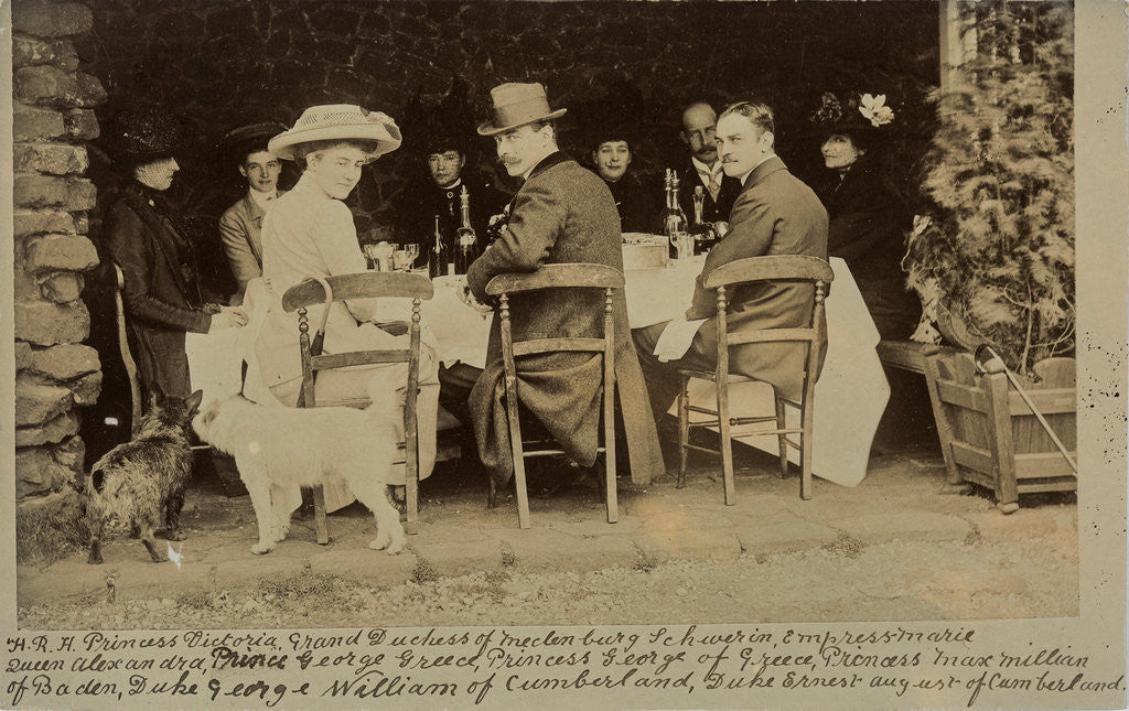 Detail of A royal lunch party, c1900 by Unknown
