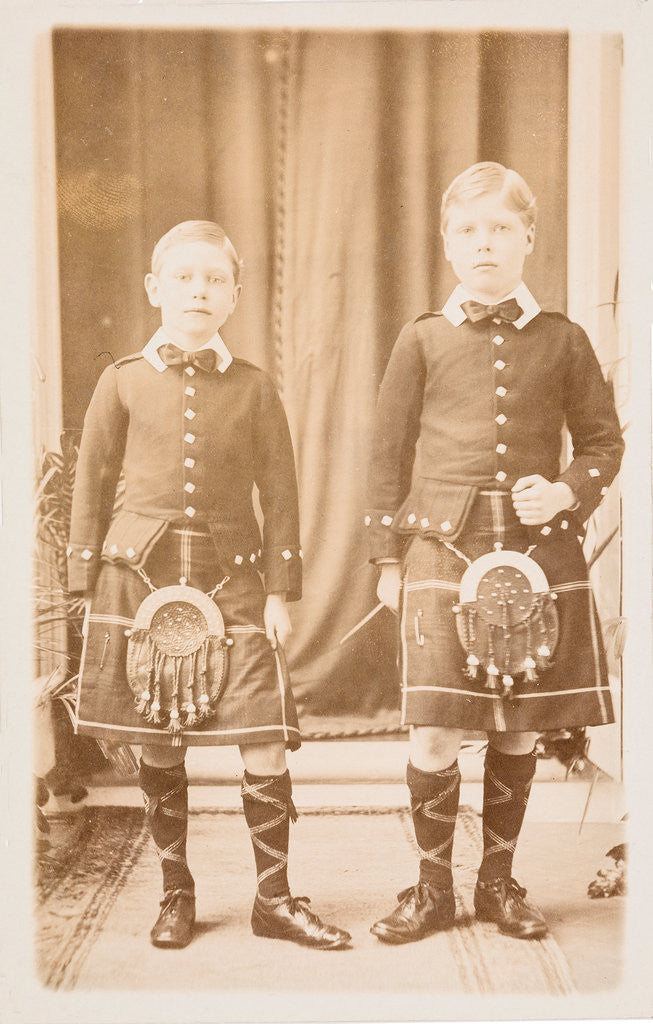 Detail of Edward, Prince of Wales and Prince Albert, c1906 by Unknown