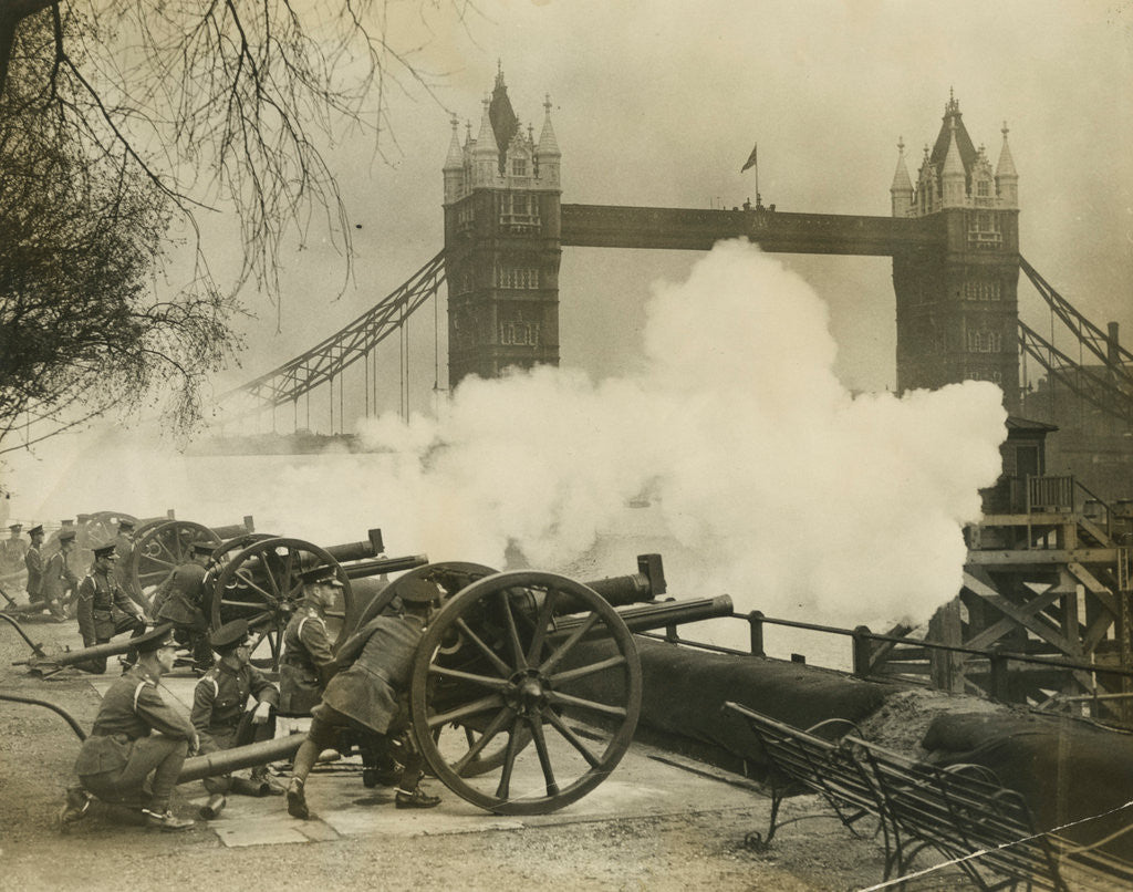 Detail of Gun salute, Tower Wharf by Unknown