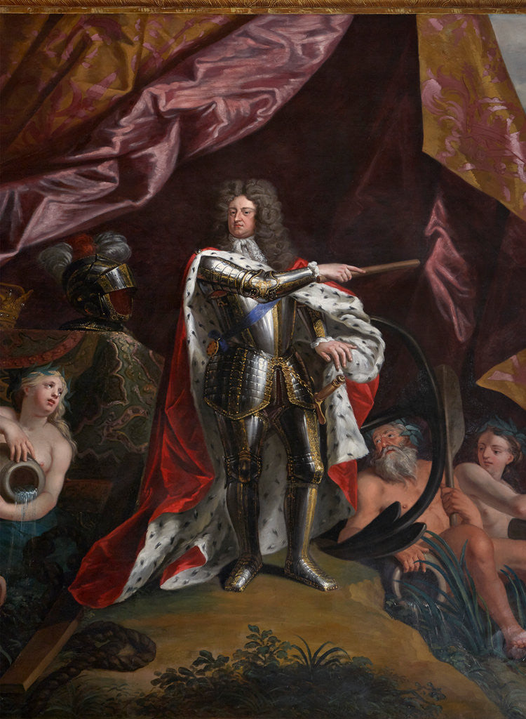 Detail of The Queen's Drawing Room, Hampton Court Palace by Antonio Verrio