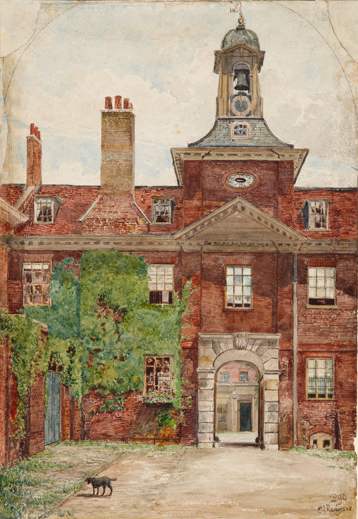 Detail of Clock Court, Kensington Palace, 1896 by E L Redgrave
