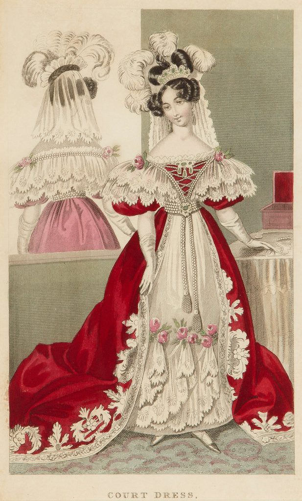 Detail of Court dress, c1831 by S Robinson