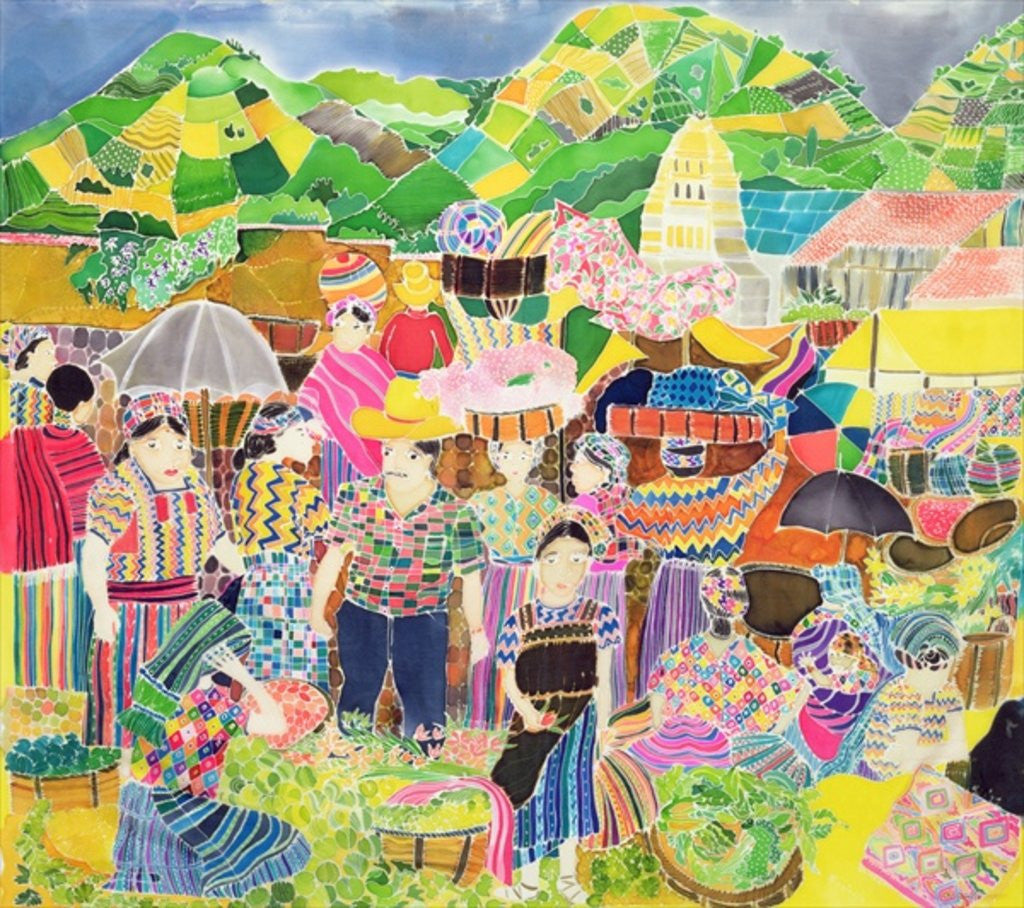 Detail of Almolonga Market by Hilary Simon