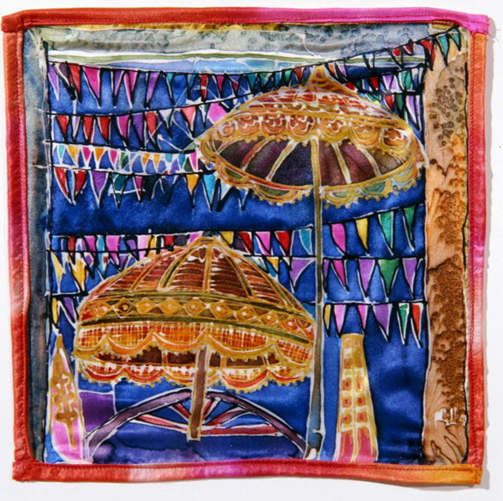 Detail of Balinese parasols by Hilary Simon
