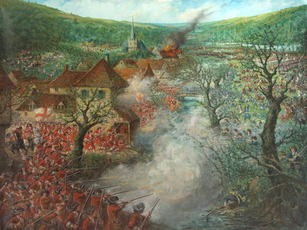 Battle Scene outside a town by Cecil Gordon Lawson