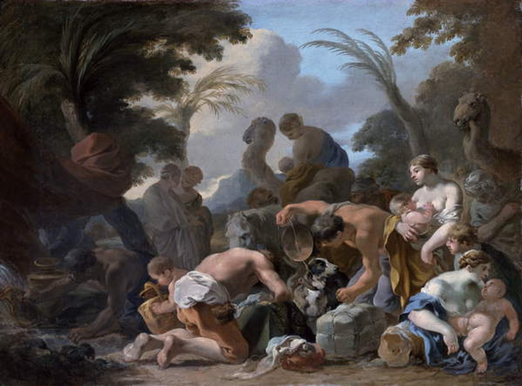 Detail of Laban Searching the Belongings of Jacob, c.1634-37 by Sebastien Bourdon