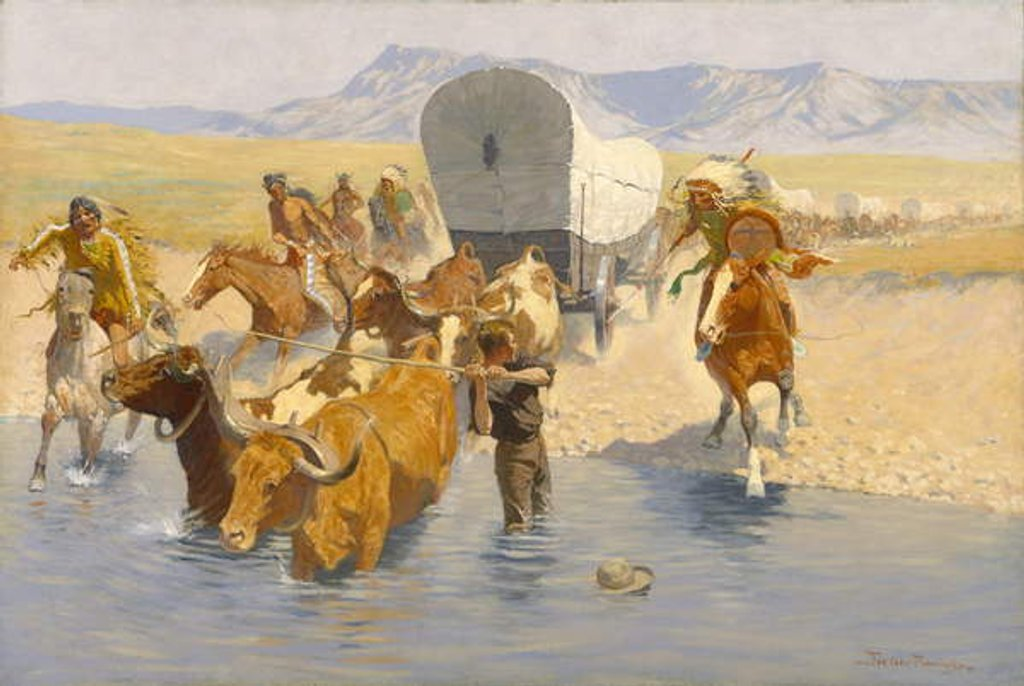 Detail of The Emigrants, c.1904 by Frederic Remington