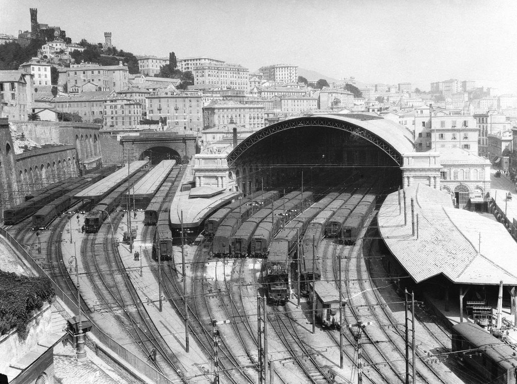 Detail of Genoa Railway Station by Corbis