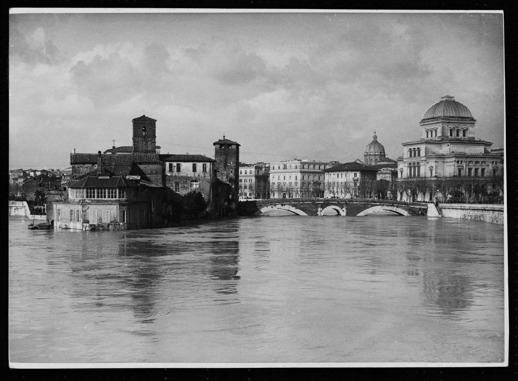 Detail of Floods in Rome by Corbis