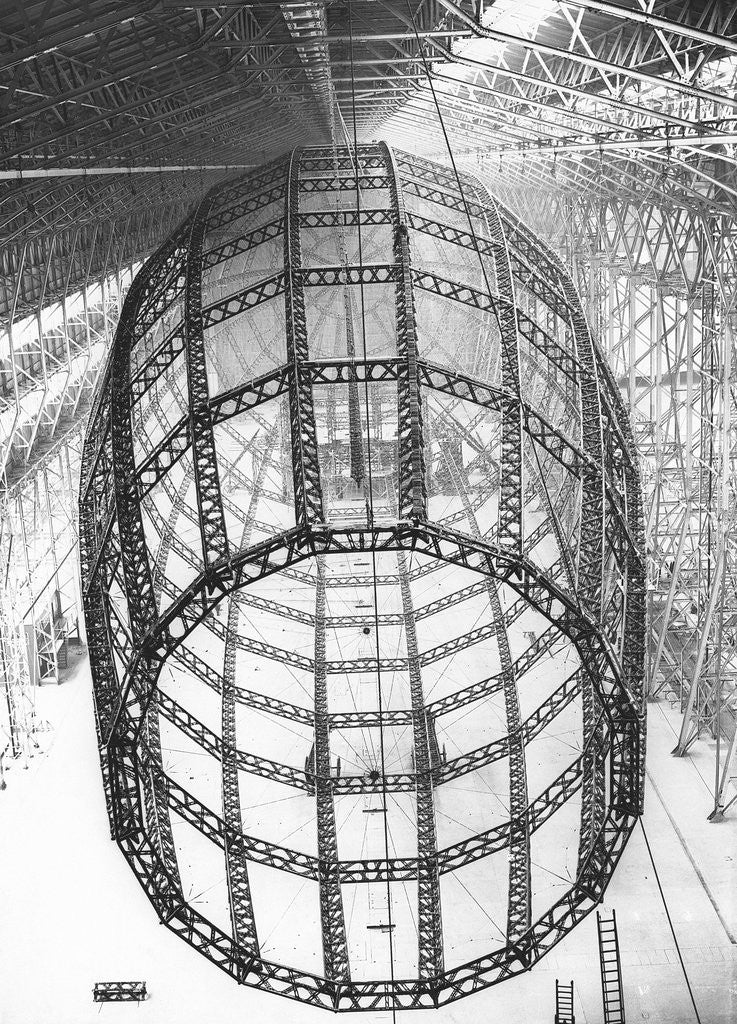 Detail of Burney Airship's Ribbed Frame by Corbis