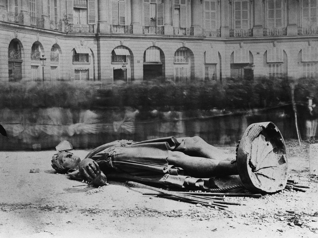 Detail of Dismantled Statue of Napoleon in Paris, 1871 by Corbis
