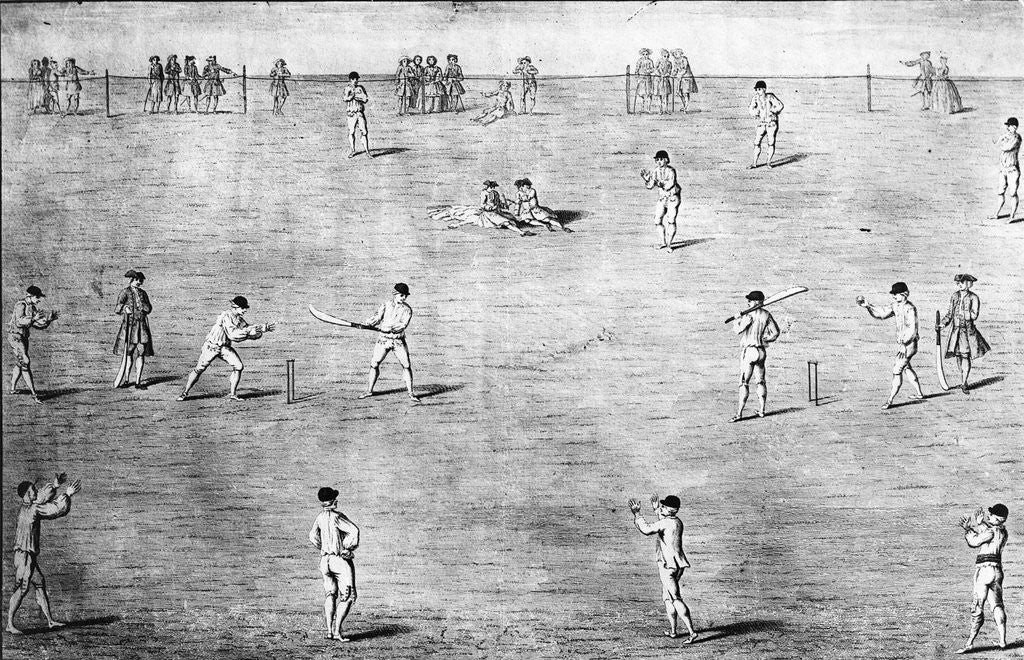 Detail of Illustration of Cricket Game by Corbis