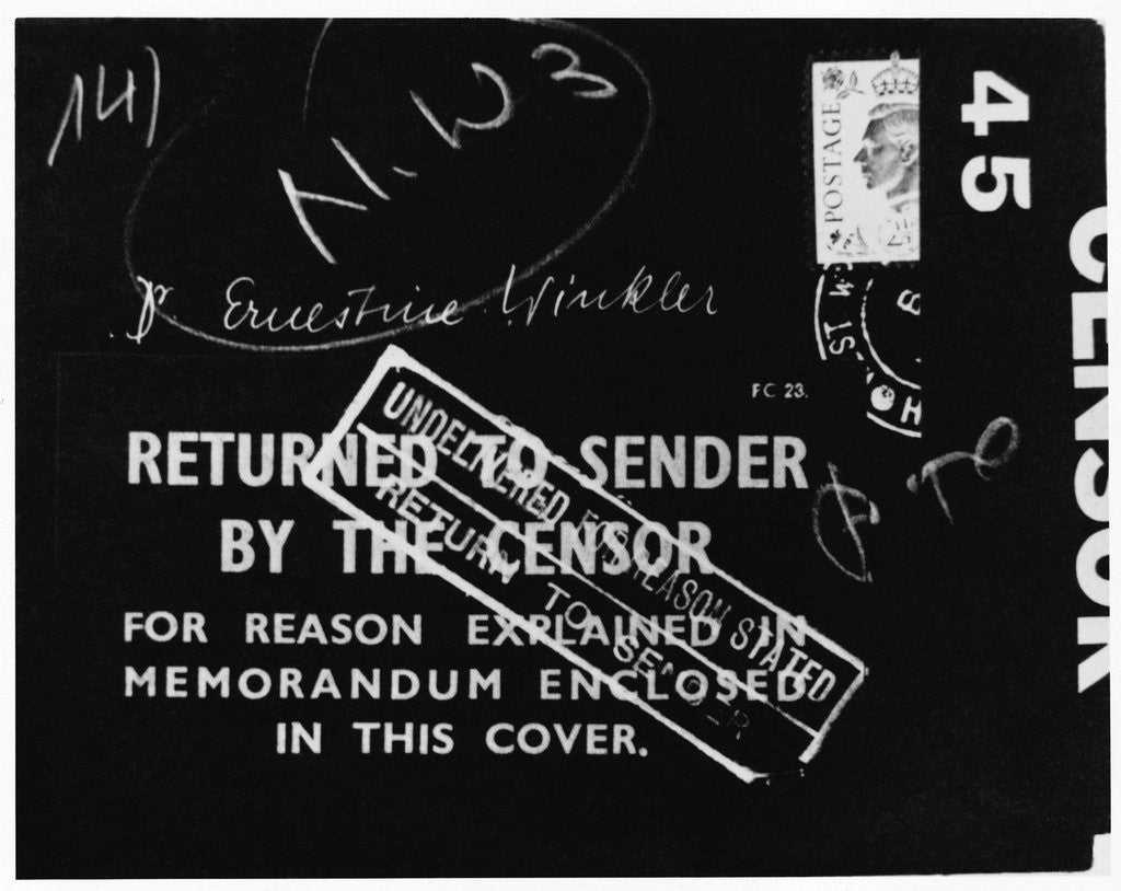 Detail of British Mail Censored During World War II by Corbis