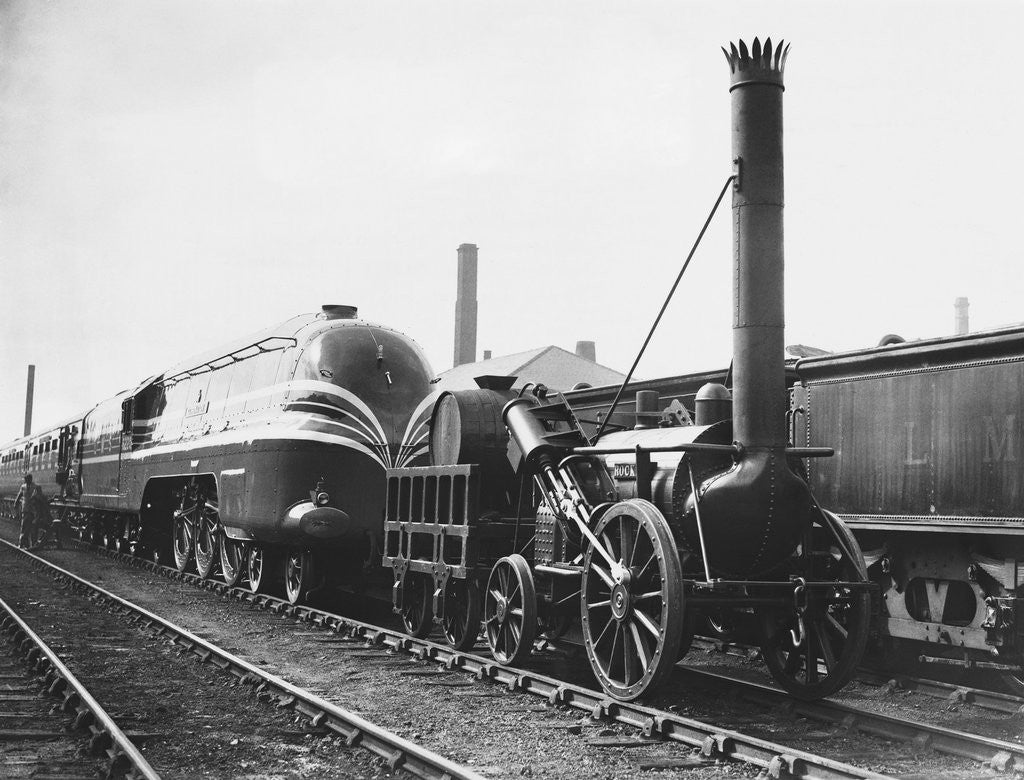 Detail of Coronation Scot and Rocket Locomotives by Corbis