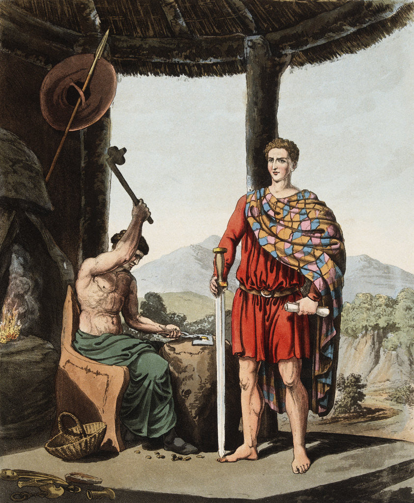 Detail of A Romanised Briton and a Feryllt by Robert Havell