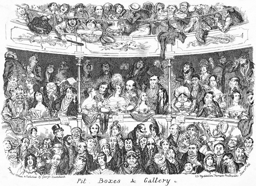 Detail of A Theatre Audience by Corbis