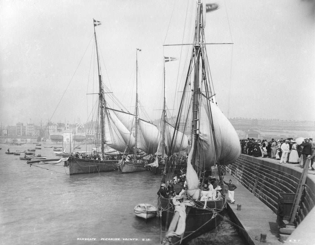 Detail of Sailing Yachts at Ramsgate by Corbis