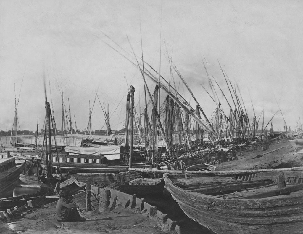Detail of Boats by the Nile by Corbis