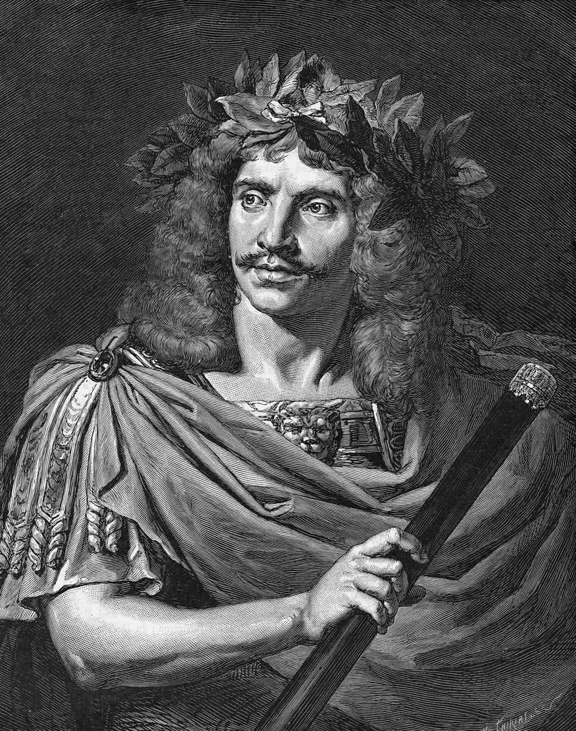 Detail of Moliere as Julius Caesar by Corbis