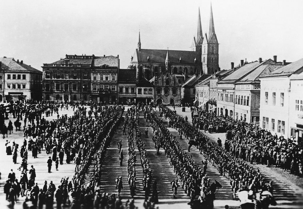 Detail of Austro-Hungarian Troops in Formation by Corbis