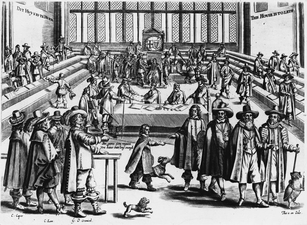 Detail of Cromwell Dissolves the Rump Parliament, 1653 by Corbis