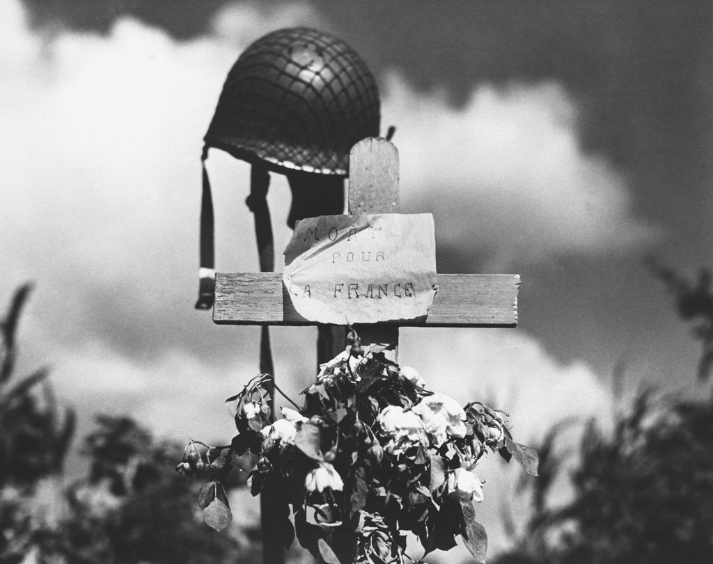 Detail of Grave of American Soldier by Corbis
