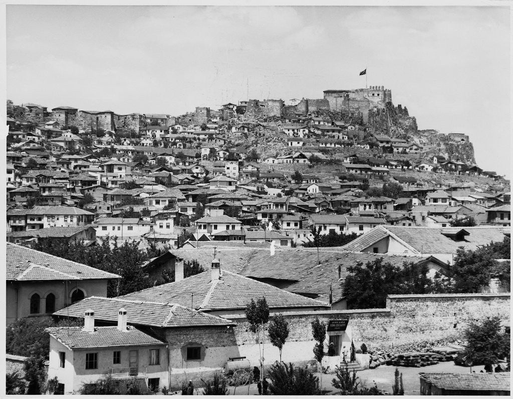 Detail of Houses Covering Ankara Hillside by Corbis