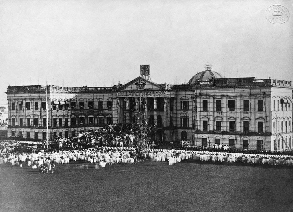 Detail of Celebrations at Government House, Calcutta by Corbis