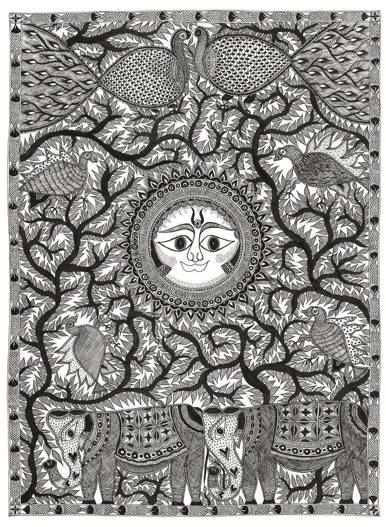 Detail of Sun and Animals by Anil