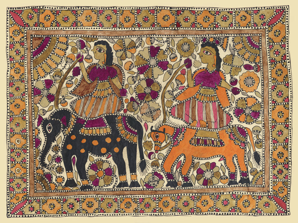 Detail of Indra and Indrani by Shivam