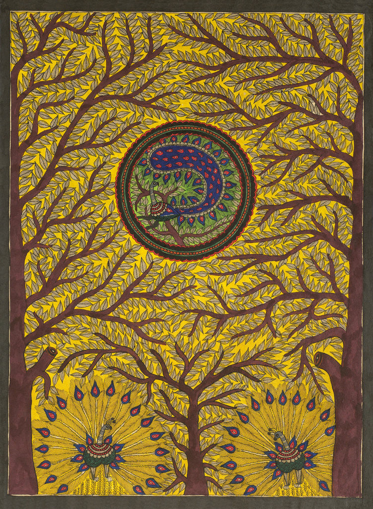 Detail of Tree, Peacock by Beta