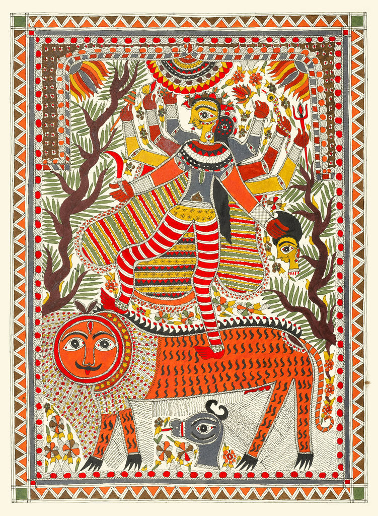 Detail of Durga by Birendra