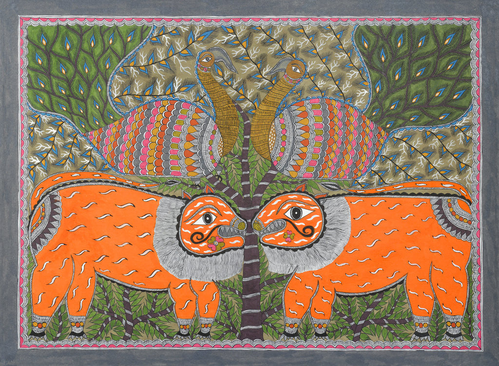 Detail of Two Lions by Anil