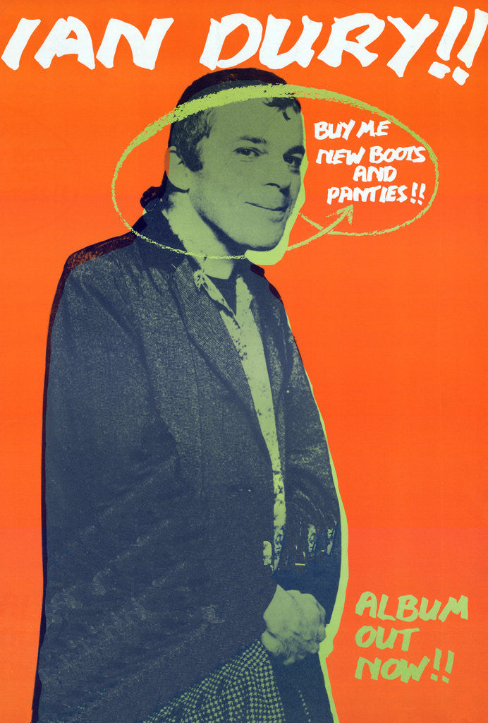 Ian Dury Poster (2) by Rokpool