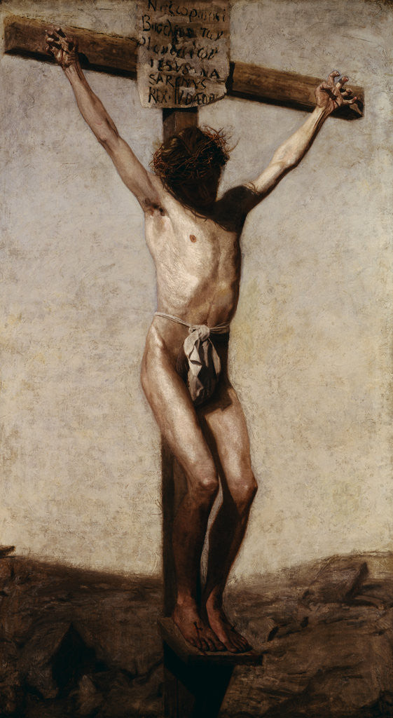 Detail of Crucifixion by Thomas Eakins