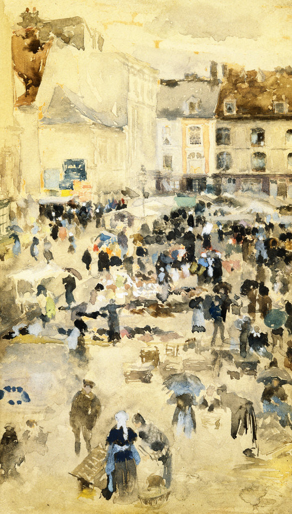 Detail of European Street Scene by Maurice Prendergast