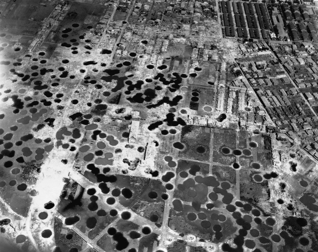 Detail of Bomb Damage in Osaka by Corbis