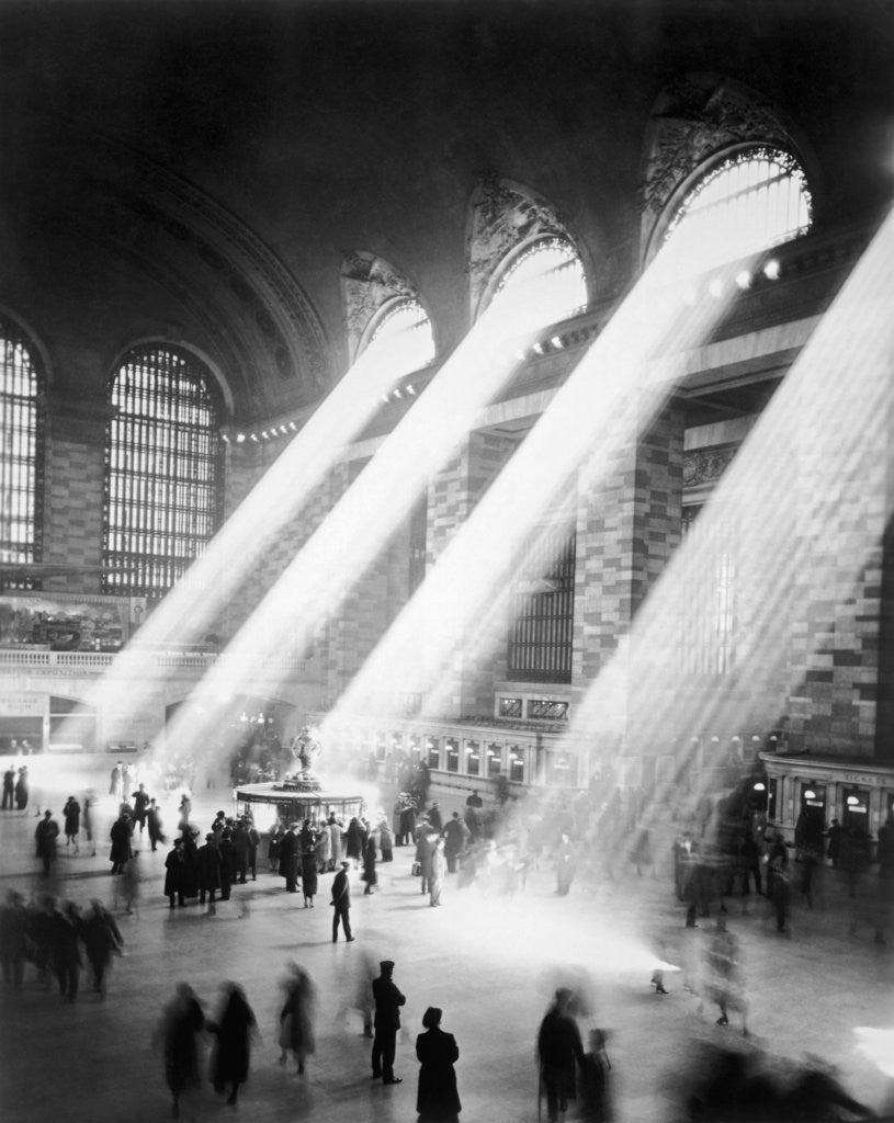 Detail of Sunbeams in Grand Central Station by Corbis