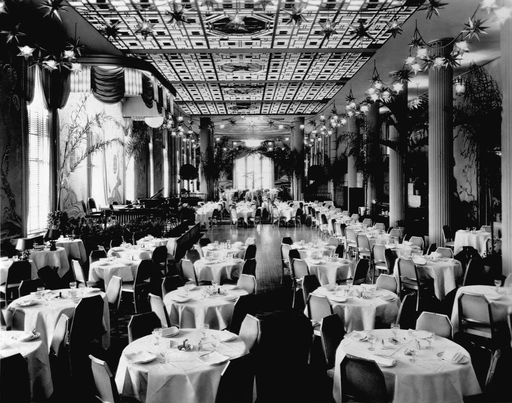 Detail of Dining Room of the Waldorf-Astoria Hotel, New York by Corbis