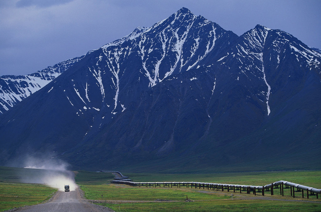 Detail of Dalton Highway and Brooks Range by Corbis