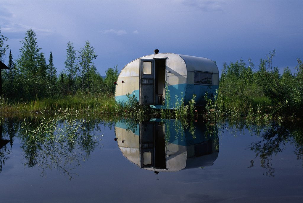 Detail of Flooded Trailer near Alaska Highway by Corbis