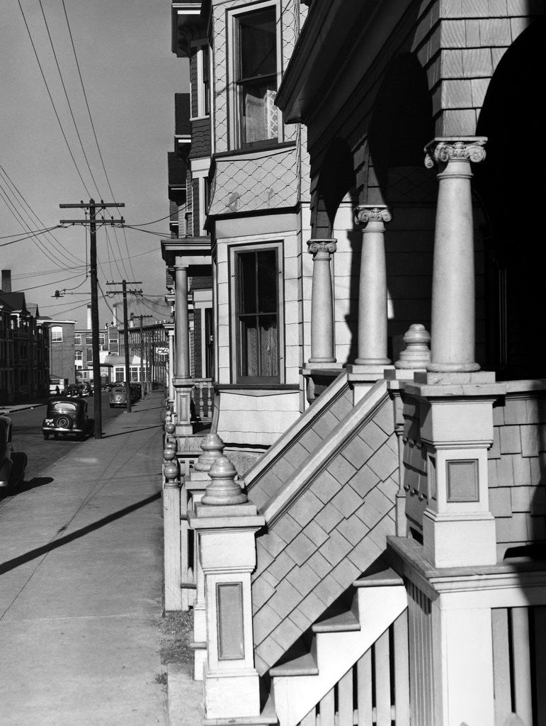 Detail of House Fronts in New Bedford by Corbis