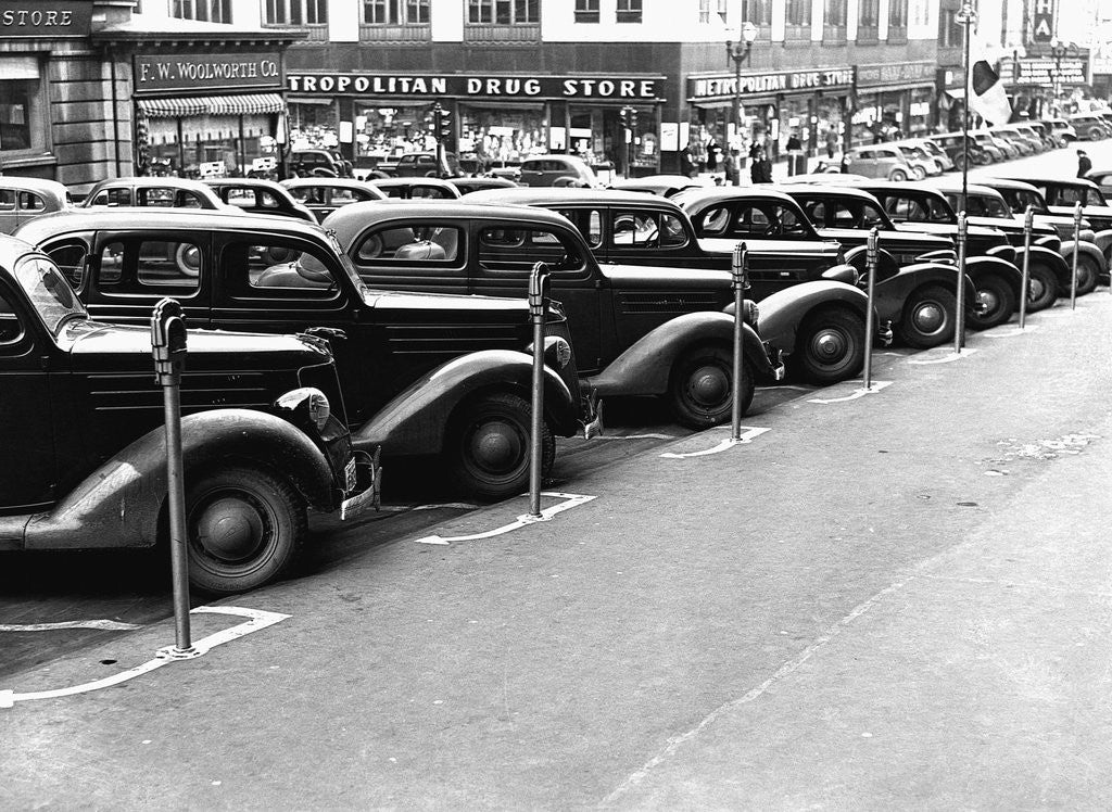 Detail of Cars Parked on Street by Corbis