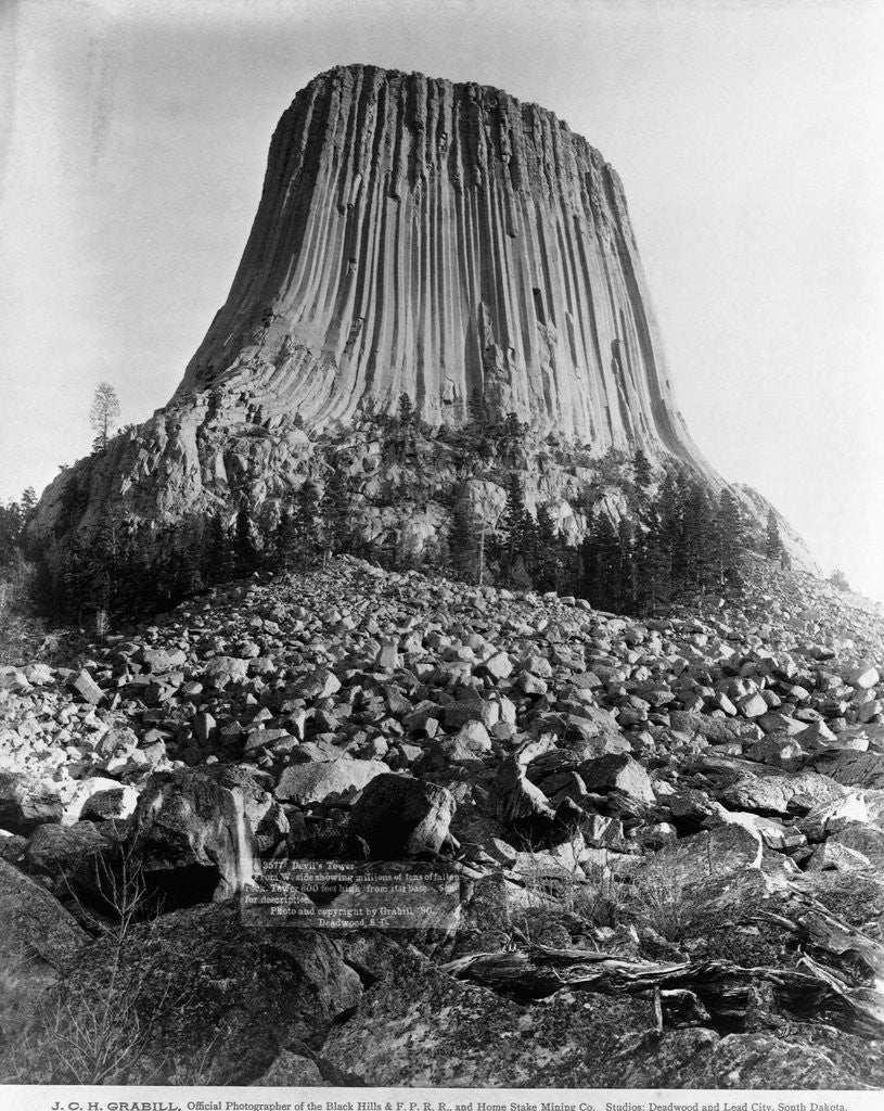 Detail of Devil's Tower, Wyoming by Corbis