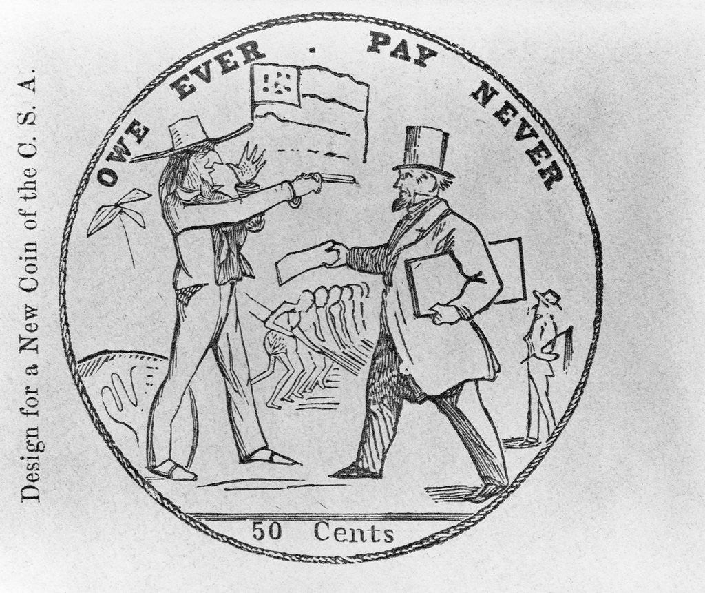 Detail of Design For a New Coin of the C.S.A. by Corbis