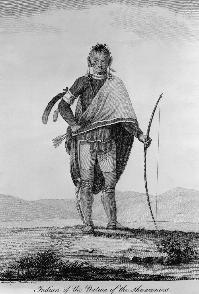 Indian of the Nation of the Shawanoes by Jean Baptiste Tardieu