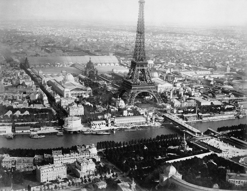 Detail of Aerial View of Paris by Corbis