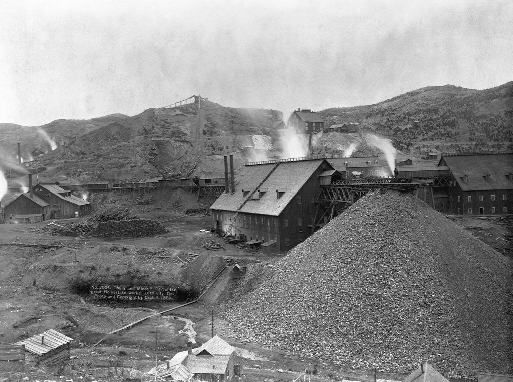 Detail of A Large Mining Facility Part of the Homestake Works by Corbis